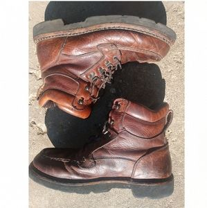 Rocky work boots men size 12 M brown leather